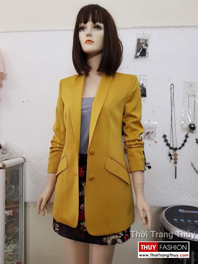 Áo vest nữ vải lụa tay xếp ly V691 thời trang thuỷ hà nội