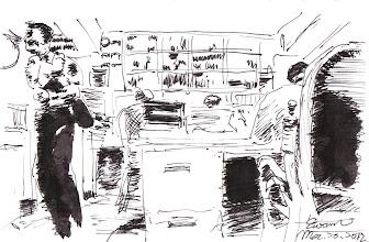 Photo: 獄卒似陀螺2012.03.30鋼筆 做公務員莫入監 一天到晚不得閒 勤務煩雜責任重 長官來巡還被鞭