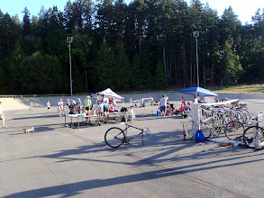 Photo: The OA Omnium is setting up at the Westshore Velodrome.