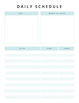 Daily Schedule & Goal - Daily Planner item