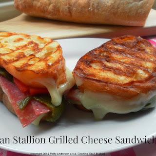Itallian Stallion Grilled Cheese Sandwich.