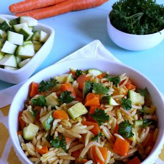 Carrot & Zucchini Rice Pilaf
