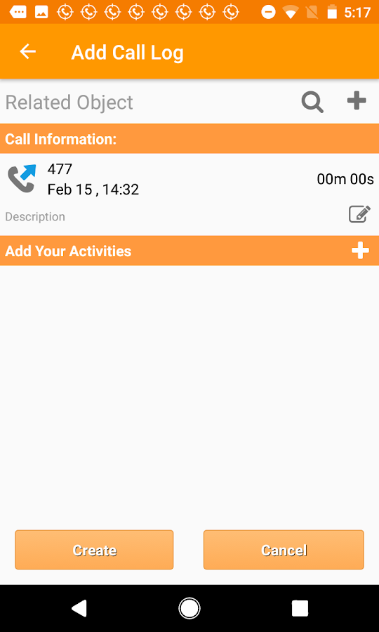 Call Tracker for OnePageCRM- screenshot
