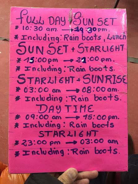 ウユニの穂高ツアーでウユニ塩湖ツアーを予約 ツアーメニュー