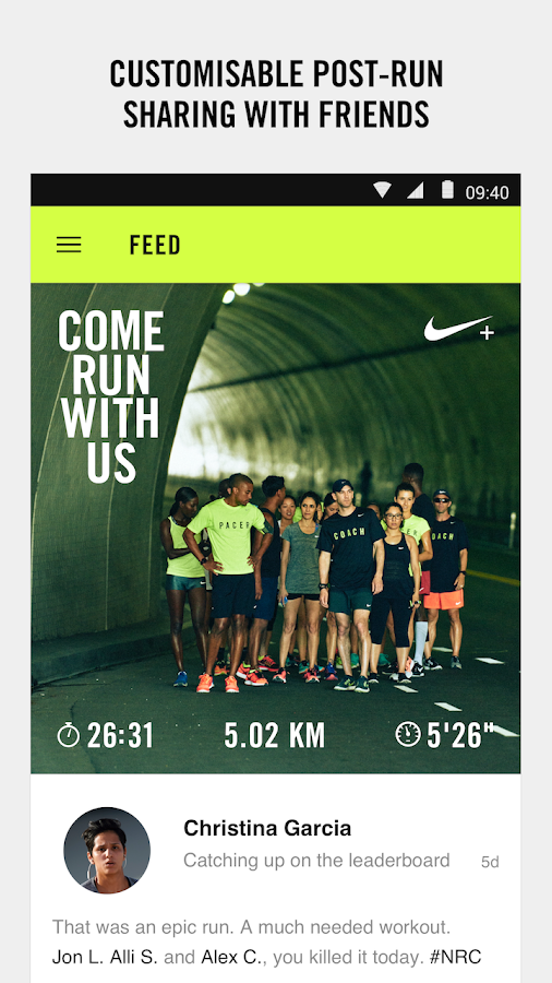 Nike+ Run Club- screenshot