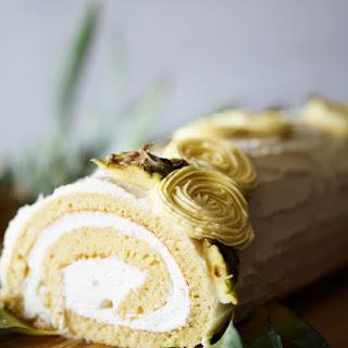 Pina Colada Swiss Cake Roll.