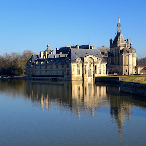 The Château de Chantilly by Philippe Smith-Smith - Buildings & Architecture Public & Historical ( winter, royal, reflections, castle, historical )