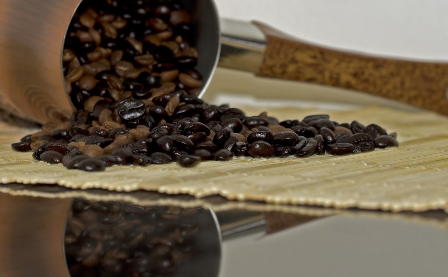 Coffee Beans by Motaz Al Nunu - Artistic Objects Cups, Plates & Utensils ( reflection, beans, coffee, turkish, pwccups, dslr )