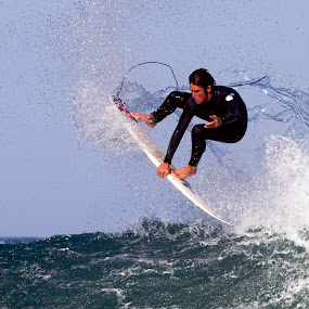 Airborne by Gavin Falck - Sports & Fitness Surfing ( watersport, surfing, surfboard, sea, beach )