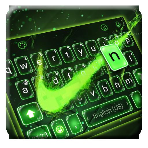 Baixar Tema Keyboard Green Neon Check para Android