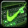 Green Neon Check Keyboard Theme