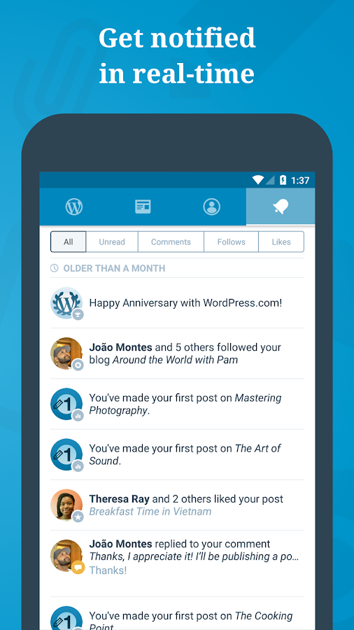WordPress: captura de pantalla