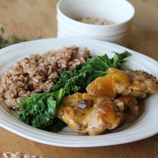 MANGO CHUTNEY CHICKEN WITH RED RICE + KALE