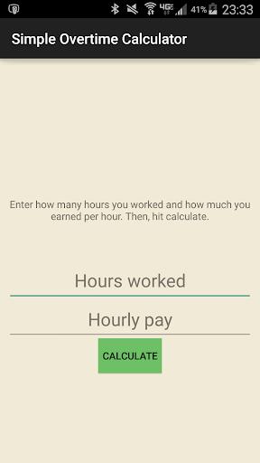 Simple Overtime Calculator