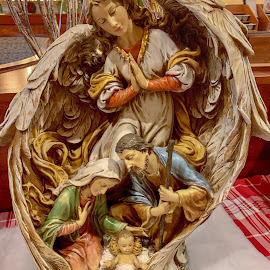 The nativity. by Peter DiMarco - Artistic Objects Other Objects ( artistic objects, ceramics, art, artistic, nativity )