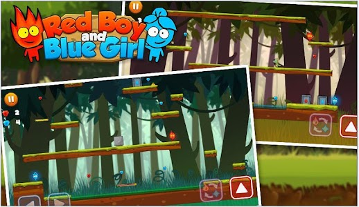 Red boy and Blue girl in Forest Temple Maze 이미지[4]