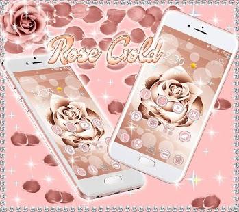Beautiful Rose Gold Theme - náhled