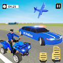 US Police Limousine Car: ATV Quad Transporter Game icon