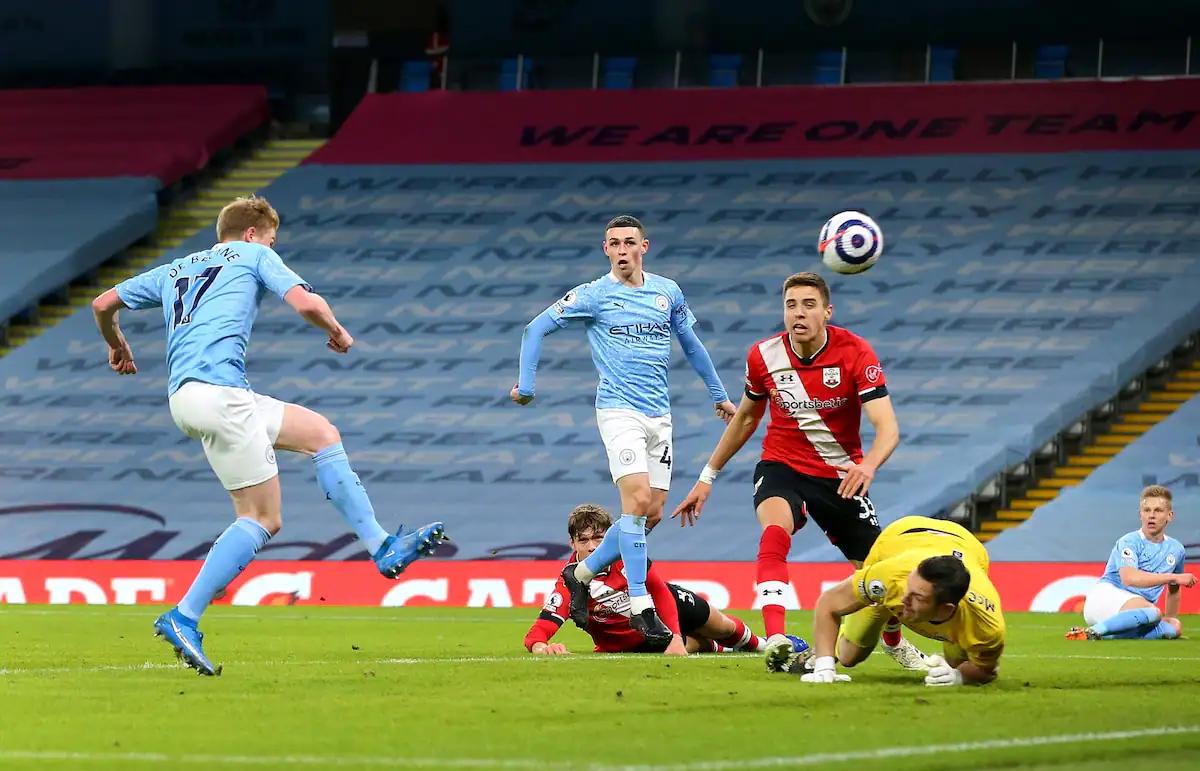 Manchester City đã toàn thắng cả 2 trận đối đầu với Southampton mùa trước.