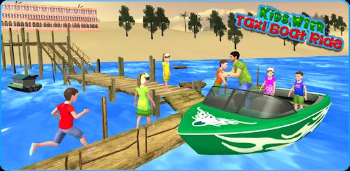 Kids Water Taxi Boat Ride Simulator : Stunts Arena Apk for