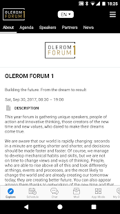 OLEROM FORUM 1 Conference- screenshot thumbnail