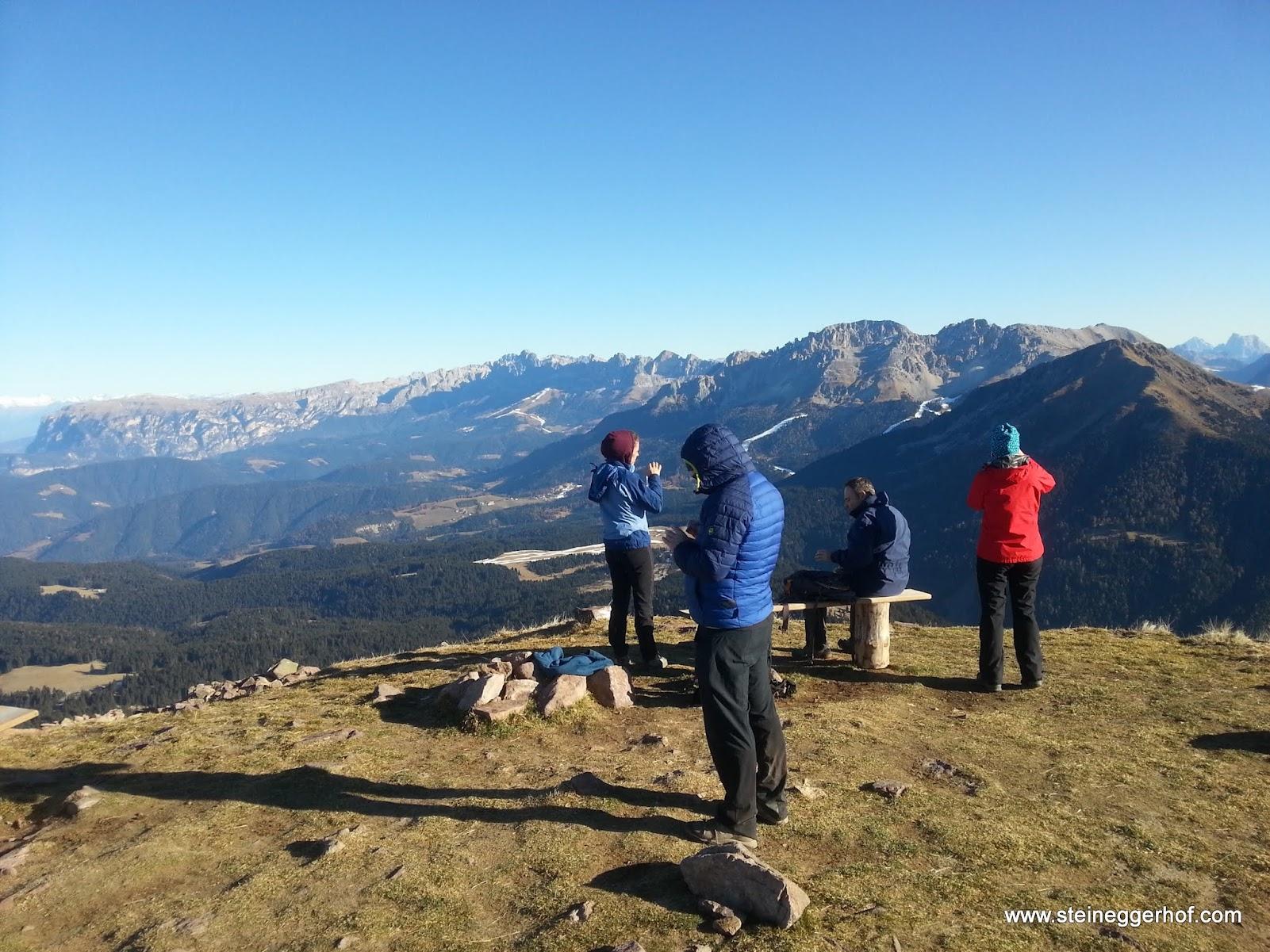 Wandern in Südtirol vom Jochgrimm auf das Schwarzhorn