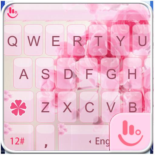 Pink Rose Keyboard Theme