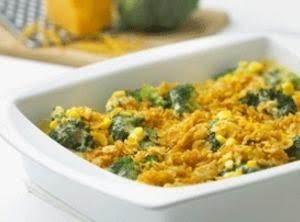 Cheddar Broccoli Corn Bake With Corn Flakes
