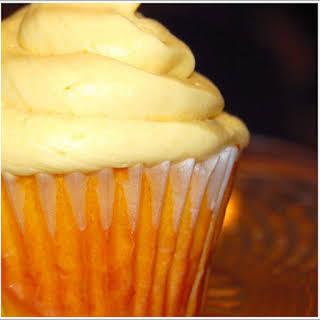 Mango Cupcakes With Mango Buttercream Frosting.