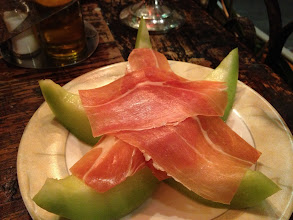 Photo: Serrano ham with melon