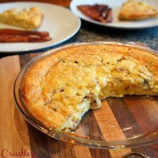 Crustless Onion, Leek and Blue Cheese Quiche