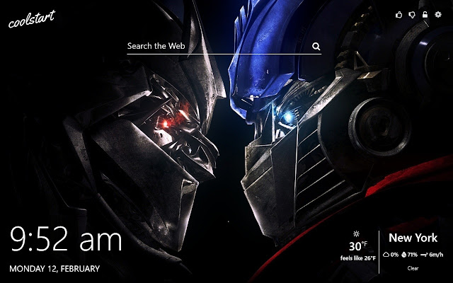 Transformers HD Wallpapers New Tab Theme