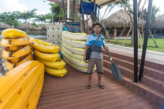 Photo: these types of boats are for initial training only... not for pro-paddlers...