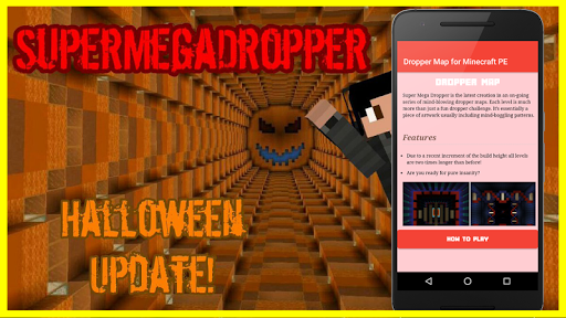 minecraft pe dropper maps