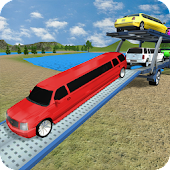 Off Road Limo Car Transporter Games