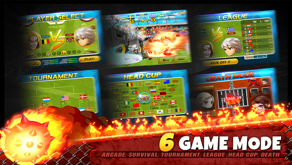 Screenshots of Head Soccer for iPhone