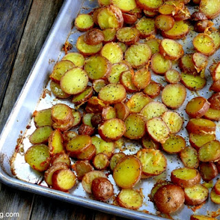 Cheesy-Crushed Rosemary Roasted Red Potato Coins.