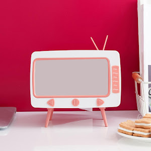Cutie retro TV pentru servetele, cu suport de telefon
