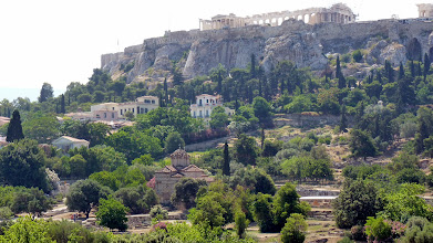 Photo: Erechtion & Parthenon From the Agora