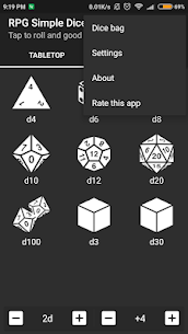 RPG Simple Dice Apk for Android. [DND 5E compaitable] 4