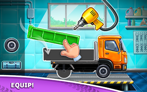Truck games for kids – build a house, car wash 7
