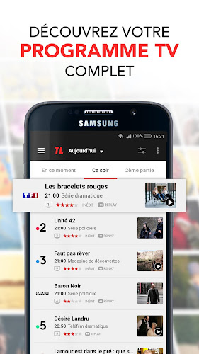 Programme TV par Télé Loisirs : Guide TV & News TV Android App Screenshot