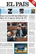 Photo: El PP saca adelante la reforma laboral con el apoyo de CiU y el acuerdo para la reducción de la deuda griega, en nuestra portada http://srv00.epimg.net/pdf/elpais/1aPagina/2012/03/ep-20120309.pdf