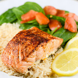 Cajun Blackened Salmon.