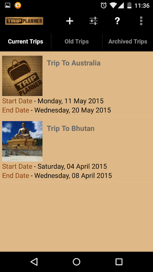Trip planner android apps on google play for Tile planner app