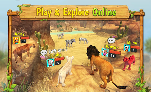 Lion Family Sim Online - Animal Simulator 4.0 screenshots 17