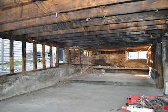 Photo: The crawl space is 2+ inches of concrete over plywood.