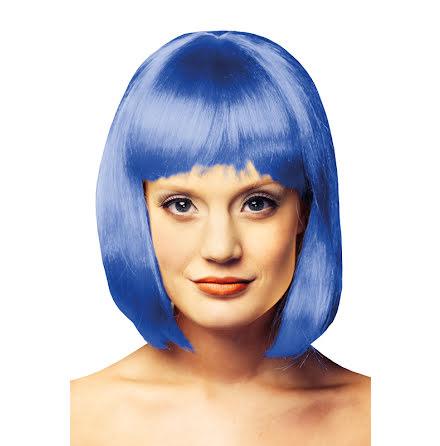 Peruk Girly blå