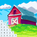 Color by Number for Adults: Landscape Pixel Art icon
