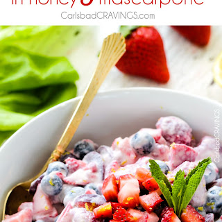 Berry Salad in Honey Mascarpone Dressing